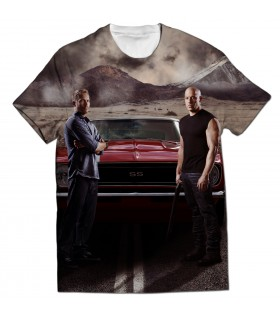 Dom and Brian all printed t-shirt